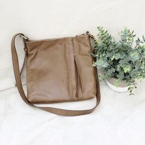 HOBO Genuine Leather Tan Crossbody Bag